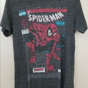 Marvel Comics Mens Small Gray T-Shirt Spider-Man